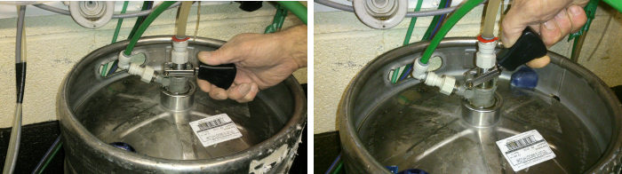 Changing a keg of beer 2